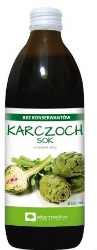 Karczoch Sok 500ml AlterMedica